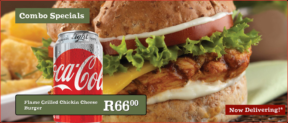 Flame Grilled Chikin Cheese Burger Meal & 330ml Coke
