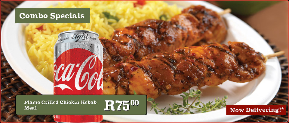 Flame Grilled Chikin Kebab Meal & 330ml Coke