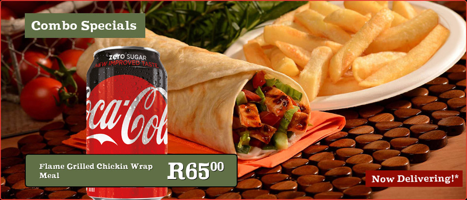 Flame Grilled Chikin  Wrap Meal & 330ml Coke